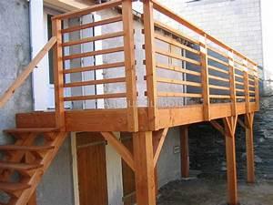 Prix Terrasse Bois : balcon en bois sur pilotis ~ Edinachiropracticcenter.com Idées de Décoration