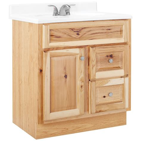 American Classics Hampton 30 inch W Vanity in Natural Hickory Finish   The Home Depot Canada