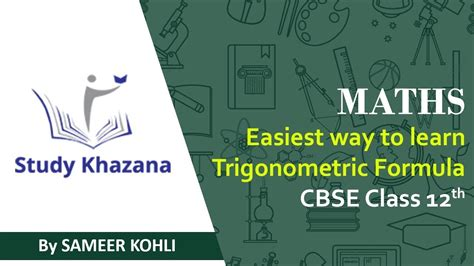 math easiest   learn trigonometric formulas class xi
