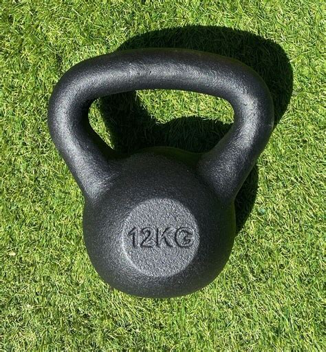 kettlebell bell weight iron cast kg brand crossfit kettle 12kg gym ended ad