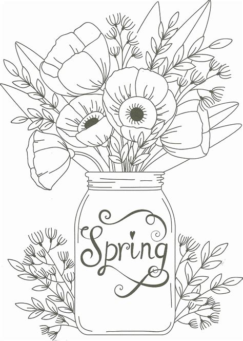 Spring Coloring Sheets for Adults in 2020 Spring