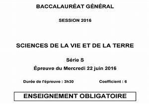 Bac Degraisseur Obligatoire : t l charger bac 2016 svt s obligatoire et sp cialit ~ Premium-room.com Idées de Décoration