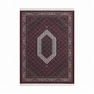tapis rouge oriental avec franges en acrylique jaipur With tapis oriental avec canapé daim