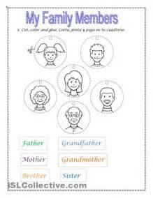 Free Printable Family Members Worksheets