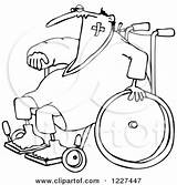 Accident Prone Wheelchair Clipart Outlined Injured Cartoon Illustration Djart Royalty Vector Senior Woman Cox Dennis Toonaday Bandaging Teddy Bear Poster sketch template