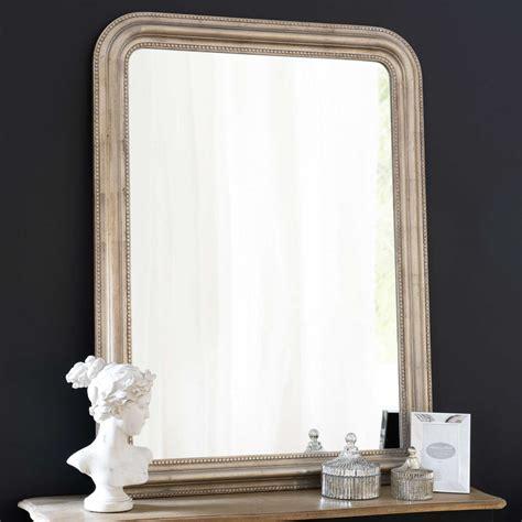 miroir en paulownia champagne  maisons du monde