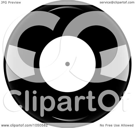 royalty free rf clip illustration of a black and white vinyl record album by pams clipart