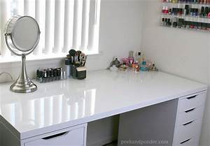 My New IKEA Makeup Vanity DIY Style Peek Ponder