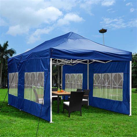 outdoor ez pop wedding party tent patio blue canopy pavilion ebay