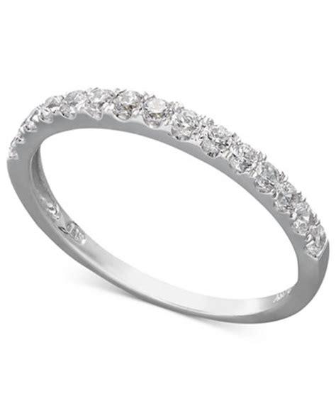 arabella 14k gold ring swarovski zirconia wedding band 1 ct t w rings jewelry watches
