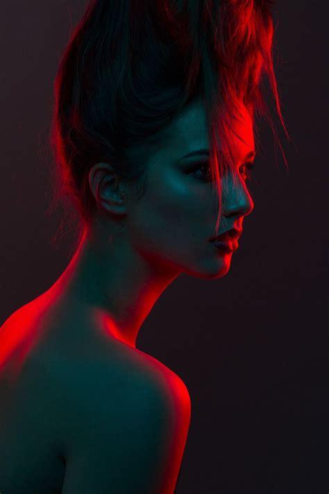 dark beauty photo light photography colour gel