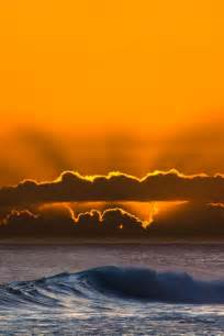 Ocean Waves Sunset