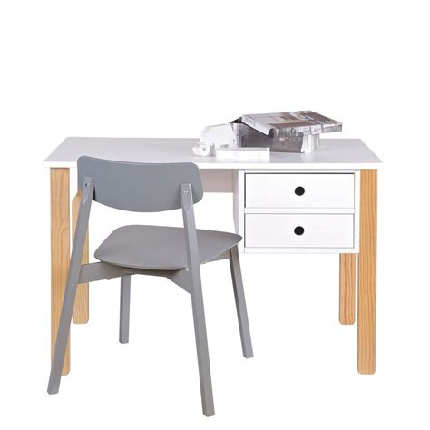 bureau pin massif blanc bureau enfant pin massif blanc tipi by drawer