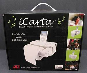 Icarta Stereo Dock For Ipod With Bath Tissue Holder  U2013 The