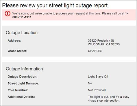 how to report street light out wildomar rap how to get a burned out street light fixed