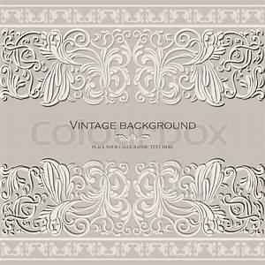 Verspielter Floraler Design Stil : vintage elegant baggrund bryllup luksus kort antik victorian floral ornament barok ramme ~ Watch28wear.com Haus und Dekorationen