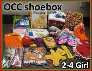 Simply Shoe Boxes OCC shoebox for 2 4 year old girl