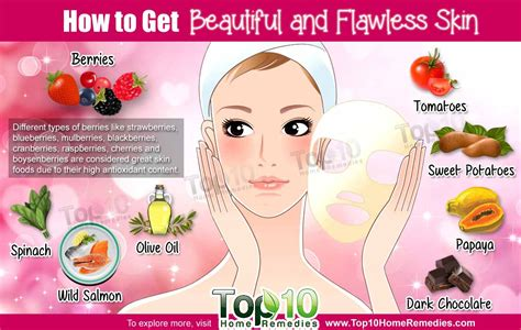 How To Get Beautiful And Flawless Skin  Top 10 Home Remedies