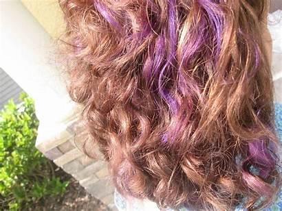 Purple Highlights Hair Brown Wallpapers