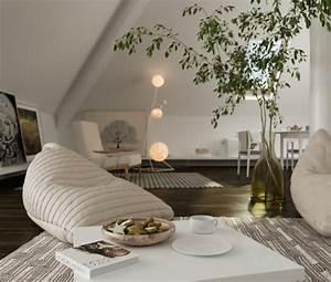 Wohnzimmer einrichten sitzs cke dachschr ge eleganter for Wohnzimmer dachschräge einrichten