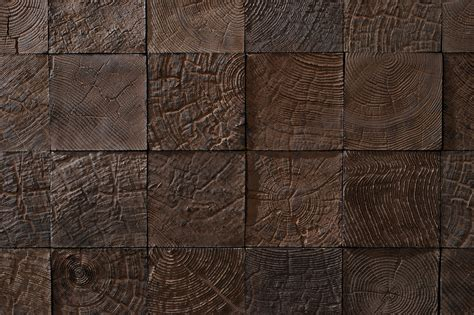 Enchanting Brown Cube Brick Exposed Textured Wall For