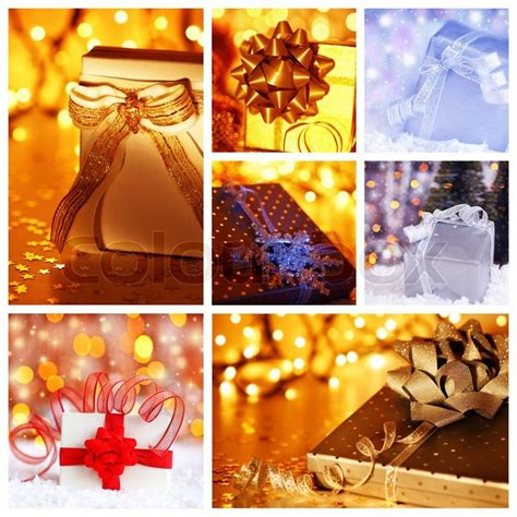winter holidays concept collage  collection