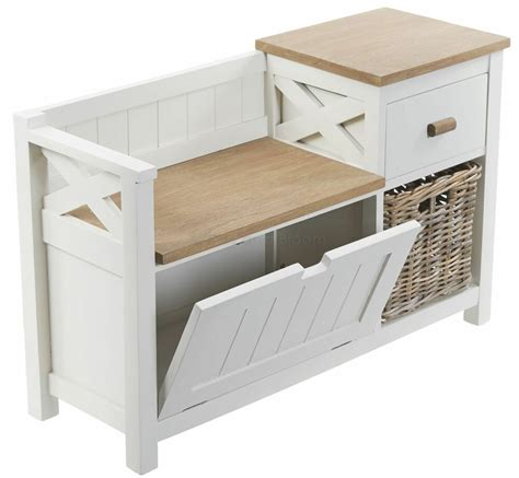 Bench Seat With Basket Storage by Hallway Storage Unit Seat Bench With Baskets And Drawer Ebay