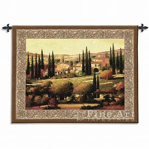 Tuscan decor tapestry wall hanging gold h quot w