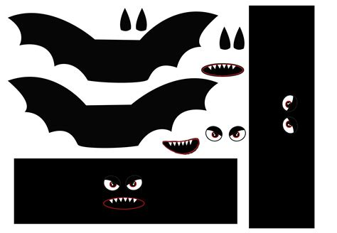 Lots Of Halloween Decoration Ideas Here A Bat Template