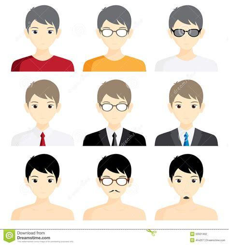 Cartoon Business Man Icons Vector Illustration