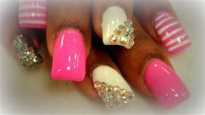 Cute Nails Designs With Diamonds - Nail Ftempo