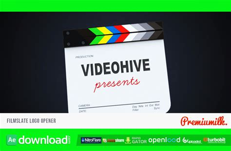 videohive after effects templates filmslate logo opener free after effects project videohive free after effects template