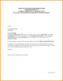 Job Offer Letter From Employer Template