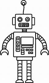 Robot Coloring Crazy Pages Cartoon Wecoloringpage sketch template