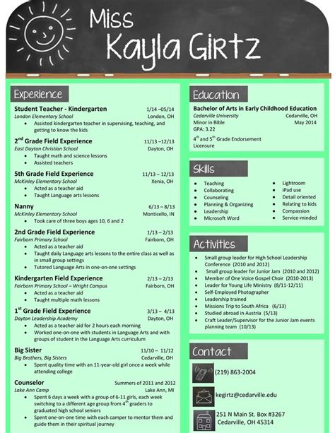 Teaching Resume Template by 25 Best Ideas About Teaching Resume On