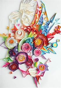 Vibrant Quilled Paper Illustrations and Sculptures by Yulia Brodskaya Colossal