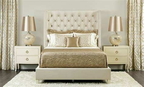 Bernhardt Living Room Furniture by Champagne Dream Salon Upholstered Bed Traditional