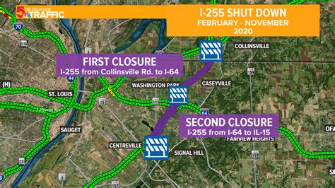 Illinois construction work: I-255 closure between I-55/70 ...