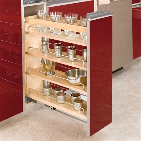 rev a shelf pull out rev a shelf 3 tier pull out base organizer 8 quot wood 448 bc