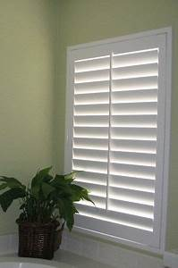 how to build plantation shutter louvers woodworking With fake window for bathroom