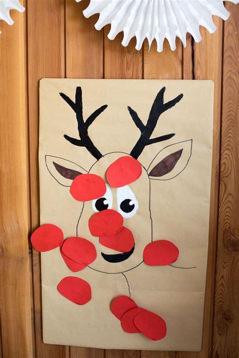 pin  nose   reindeer preschool christmas