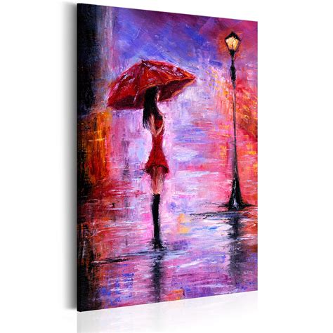 gemalte bilder auf leinwand leinwand bilder kunstdruck bild frau regenschirm wie gemalt h b 0074 b a ebay