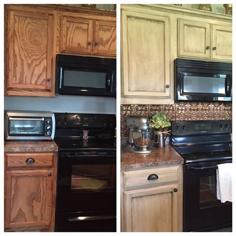 painting kitchen cabinets rustoleum cabinet transformation before and after oak 1396