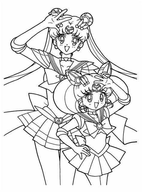 Free Coloring Sheets by Free Printable Sailor Moon Coloring Pages For
