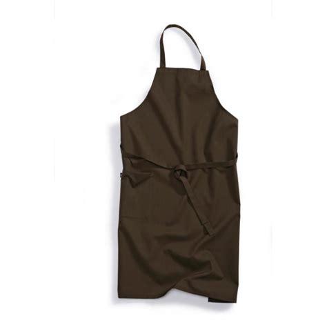 vetement cuisine professionnel tablier de cuisine professionnel à bavette marron