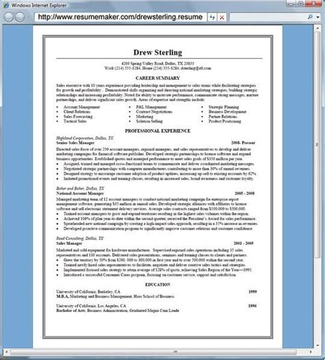 Free Resume Maker Professional by Resumemaker Professional Software Informer Screenshots