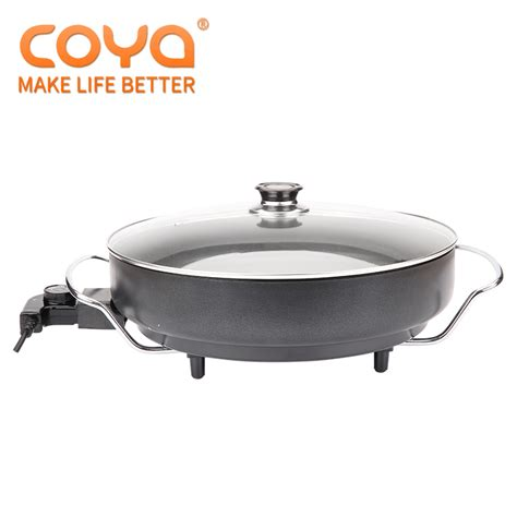 stick coating aluminum electric frying pizza pan  kitchen cooker buy frying