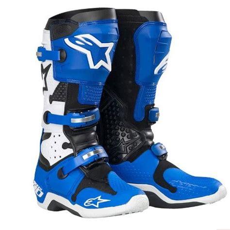 blue dirt bike boots alpinestars tech 10 motocross moto pinterest tech