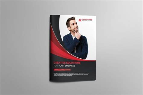 bifold brochure material design background graphic