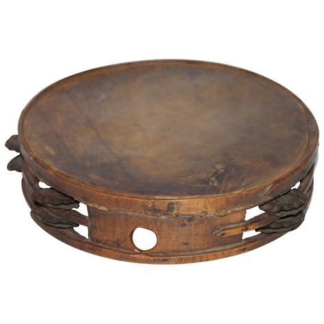 Tambourines are often used with regular percussion sets. Early 19th Century American Tambourine from New England ...
